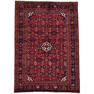 Wool Hand-knotted Persian Nahavand Rug (5'5 x 7'6)
