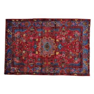 Wool Persian Nahavand Handmade Full Pile Oriental Rug (5'1 x 7'6)