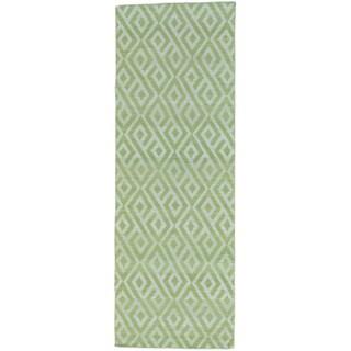 Reversible Hand-woven Killim Flat Weave Runner Rug (2'8 x 7'8)