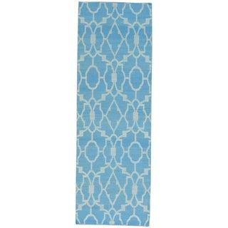 Reversible Flat Weave Killim Hand-woven Runner Rug (2'8 x 7'10)