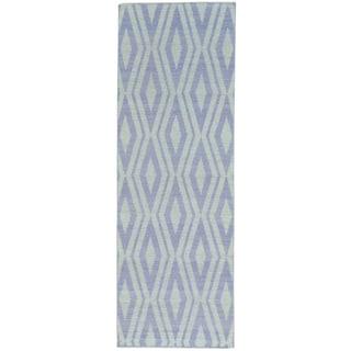 Reversible Flat Weave Killim Hand-woven Oriental Runner Rug (2'8 x 8')