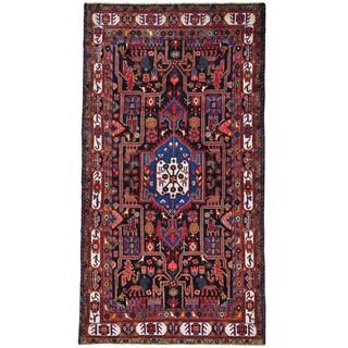 Wool Persian Nahavand Pictorial Handmade Oriental Rug (5' x 9'5)