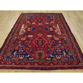 Hand-knotted Tribal Design Persian Nahavand Wool Rug (5'2 x 7'7)