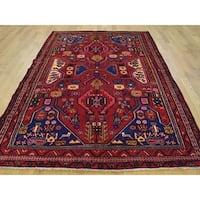 Hand-knotted Tribal Design Persian Nahavand Wool Rug (5'2 x 7'7)