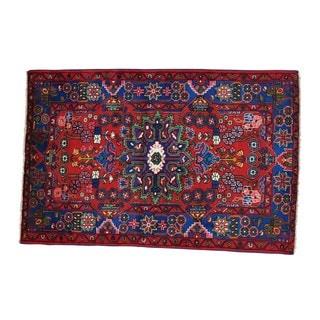 Wool Handmade Persian Nahavand Full Pile Oriental Rug (4'5 x 6'9)