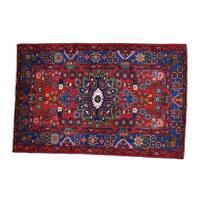 Wool Handmade Persian Nahavand Full Pile Oriental Rug - 4'5 x 6'9