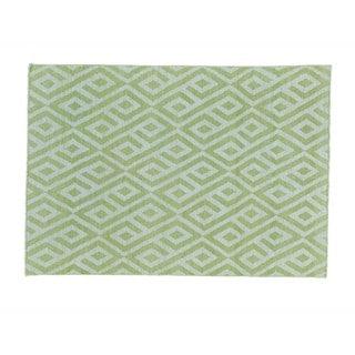 Light Green Hand-woven Reversible Flat Weave Kilim Rug (3'9 x 5'5)