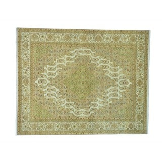 Amritsar Vegetable Dyes Paisley Design Hand-knotted Rug (8'1 x 10')