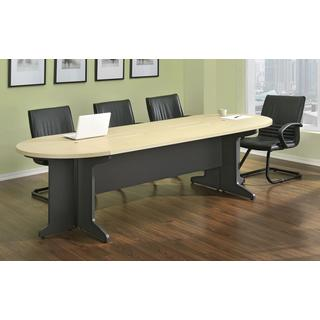 Ameriwood Home Benjamin Grey/ Natural Large Conference Desk Bundle
