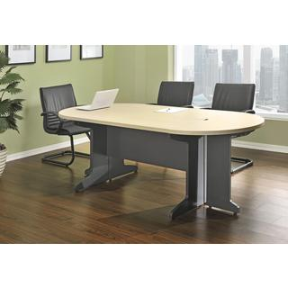 Ameriwood Home Benjamin Grey/ Natural Small Conference Desk Bundle