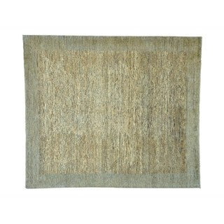 Wool Gabbeh Peshawar Hand-knotted Natural Dyes Rug (8'2 x 9'5)