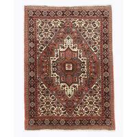 Hand-knotted Wool Rust Traditional Oriental Bidjar Rug (3'4 x 4'8)