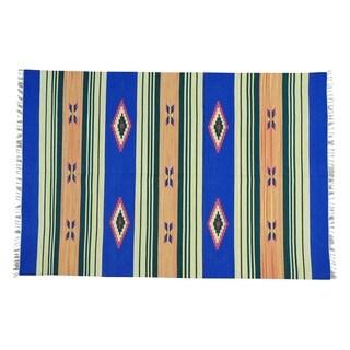 Flat Weave Hand-woven Killim Southwest Design Oriental Rug (6' x 9')