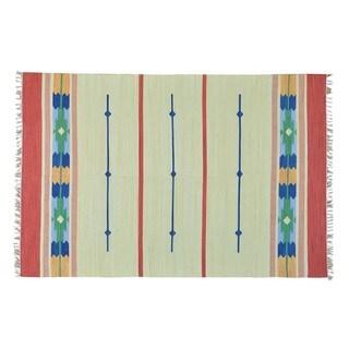 Flat Weave Hand-woven Killim Design Oriental Rug (6' x 9')
