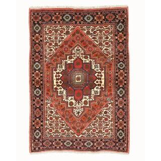 Hand-knotted Wool Rust Traditional Oriental Bidjar Rug (3'3 x 4'9)