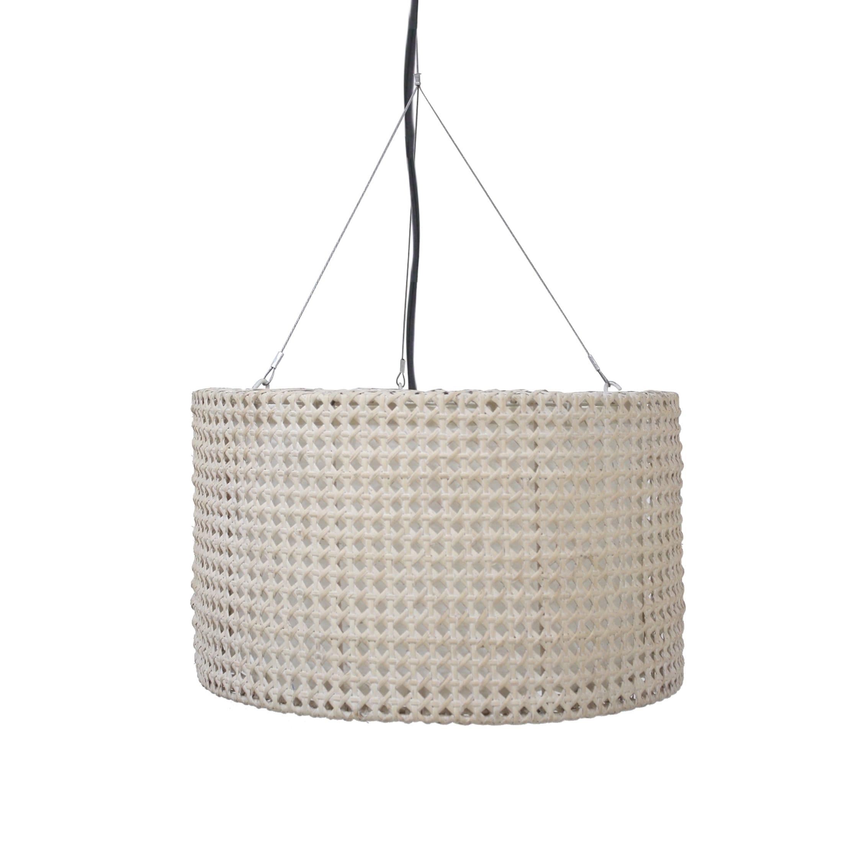Crafted Home Capela Round Pendant White (Capela-WH) (Rattan)