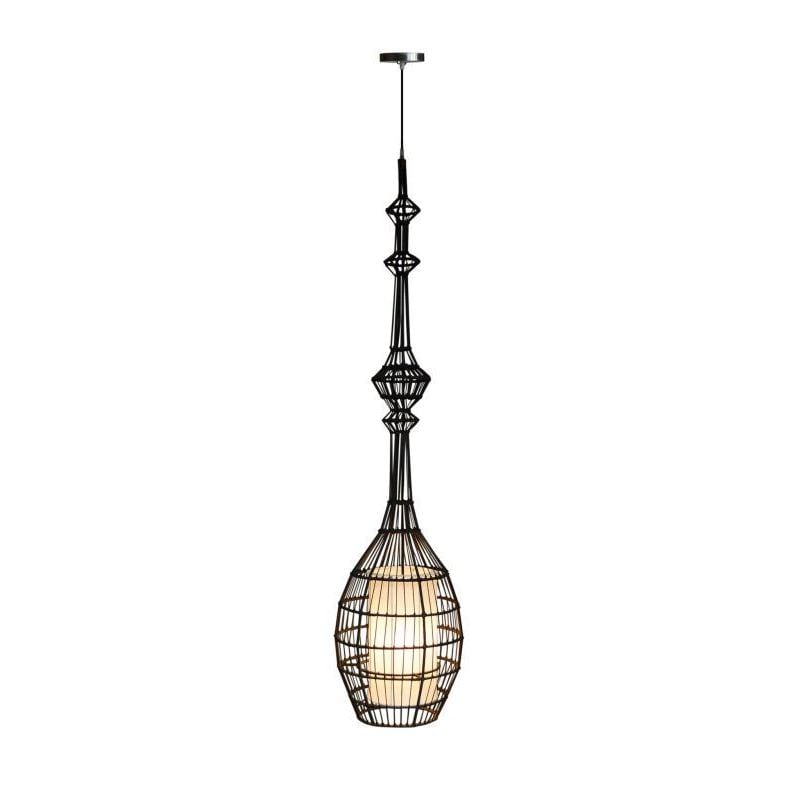 Crafted Home Howard Pendant (Howard-03), Brown (Rattan)