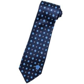 Versace 100-percent Italian Silk Navy Neck Tie