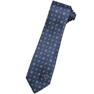 Versace 100-percent Italian Silk Slate Blue Neck Tie
