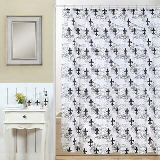 18-piece Black and White Fluer Di Lis Bath In A Bag