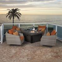 RST Brands Cannes 5-piece Motion Fire Chat Set in Tikka Orange
