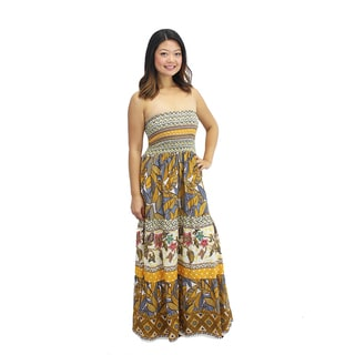 Relished Women's Daytime at the Bazaar Strapless Maxi Dress