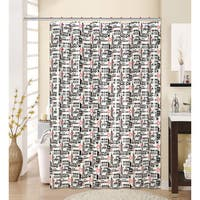 13-piece NY Printed Peva Shower Curtain with Roller Hooks