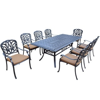 Sunbrella Aluminum 9-piece Dining Set with Stackable Chairs