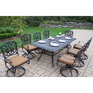 Sunbrella Aluminum 9-piece Rocker Dining Set