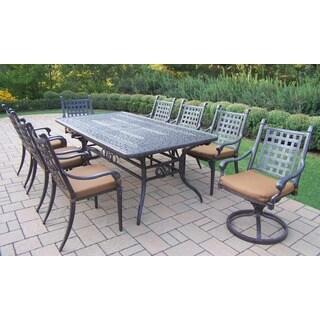 Gracewood Hollow Baeri Sunbrella Cast Aluminum 9-piece Dining Set with Extendable Table