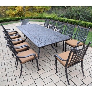 13 pc Dining Set with Extendable Table and Sunbrella Cushioned Chairs