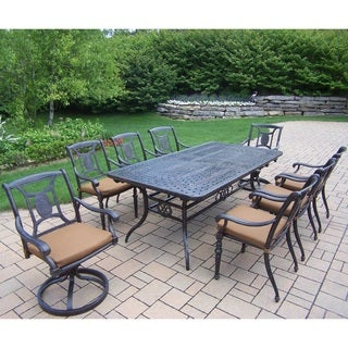 Gracewood Hollow Baeri 9 pc Dining Set, with Extendable Table, Chairs, Swivel Rockers