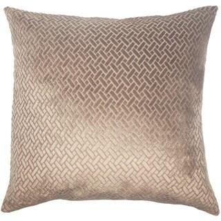 Copper Grove Sallochy Velvet Designer 18 inch Pillow Cover (Brown)
