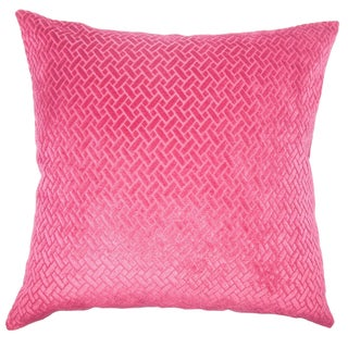 Copper Grove Sallochy Velvet Designer 18 inch Pillow Cover (Option: Pink)