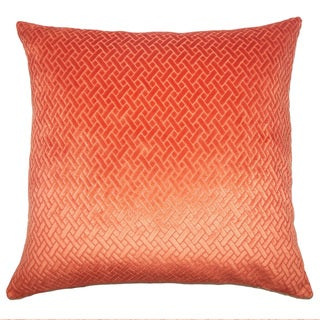 Copper Grove Sallochy Velvet Designer 18 inch Pillow Cover (Tangerine)