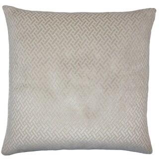Copper Grove Sallochy Velvet Designer 18 inch Pillow Cover (Natural)
