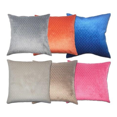Copper Grove Sallochy Velvet Designer 18 inch Pillow Cover