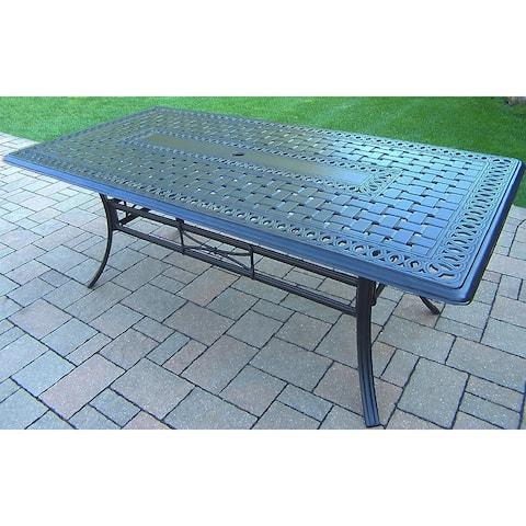 Buckingham 84 x 42-inch Antique Black Rectangular Dining Table