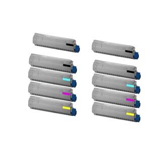 2Set + 2BK Compatible 44059216 44059215 44059214 44059213 Toner Cartridge For Oki MC860 MC860 MFP ( Pack of 10 )