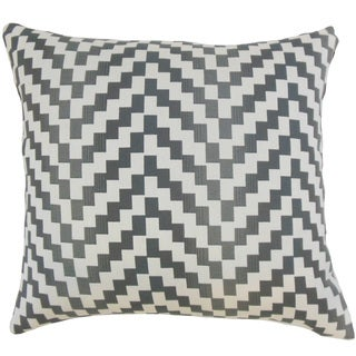 Dhiren Geometric 18 inch Down and Feather Filled Throw Pillow