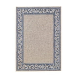 Elsinore-scroll Rectangle Machine Woven Rug (3'11 x 5'6)