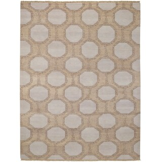 Hable Construction Penny Rectangle Hand-knotted Rug - 4' x 6'
