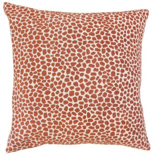 Wihe Animal Print 18 inch Down and Feather Filled Throw Pillow