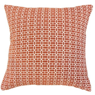 Tenauri Geometric 18 inch Down and Feather Filled Throw Pillow