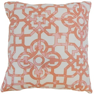 Nowles Geometric 18 inch Down and Feather Filled Throw Pillow