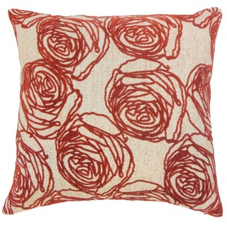Halen Floral 18 inch Down and Feather Filled Throw Pillow