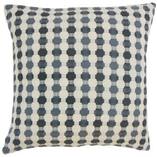 Gafnit Geometric 18 inch Down and Feather Filled Throw Pillow