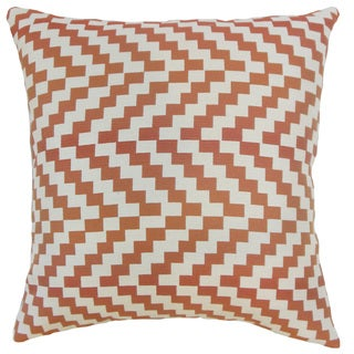 Fai Geometric 18 inch Down and Feather Filled Throw Pillow