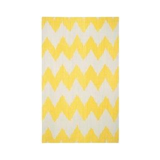 Genevieve Gorder Insignia Rectangle Flat Woven Rug (5'x 8') - 5' x 8'