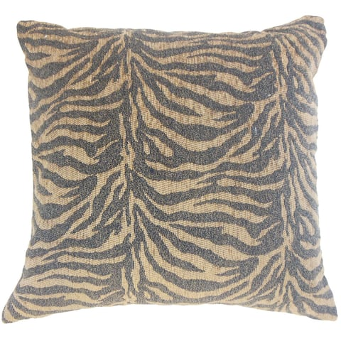 Caiya Animal Print 18 inch Down and Feather Filled Throw Pillow